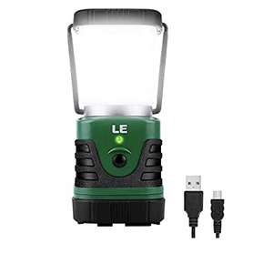 LE Rechargeable Camping Lantern - £19.54 (Prime) £24.03 (Non Prime) @ Sold by NEON Mart and Fulfilled by Amazon.