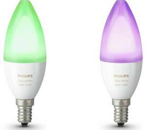 Hue white and colour ambience (E14) twin pack £33.24 @ Currys eBay