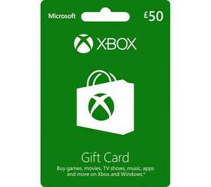 Microsoft Xbox Live Gift Card - £50 value for £43.70 using code @ eBay / Currys