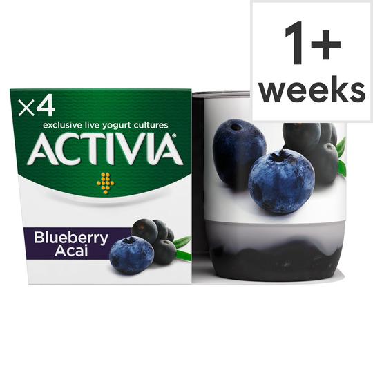 Danone Activia Fusion Yogurt 4X125g Blueberry Acai OR Prune, Now £1 @ Tesco