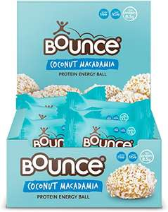 Bounce Coconut and Macadamia Protein Bliss Energy Balls 40 g x 12 £1.63 Amazon Prime / £6.12 Non Prime