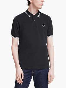 Fred Perry Twin Tipped Polo Shirt, Various colours - £32 @ John Lewis & Partners