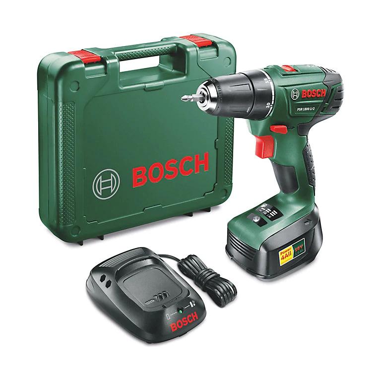 Bosch Cordless 18V 1.5Ah Li-ion Brushed Drill driver 1 battery PSR 1800 LI-2 £50 delivered with code @ B&Q