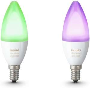 Philips Hue E14 Candle White and Colour Twin Pack £34.29 Used Like New @ Amazon