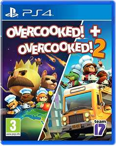 Overcooked and Overcooked 2 PS4 £15.99 (+£4.49 non-prime) @ Amazon