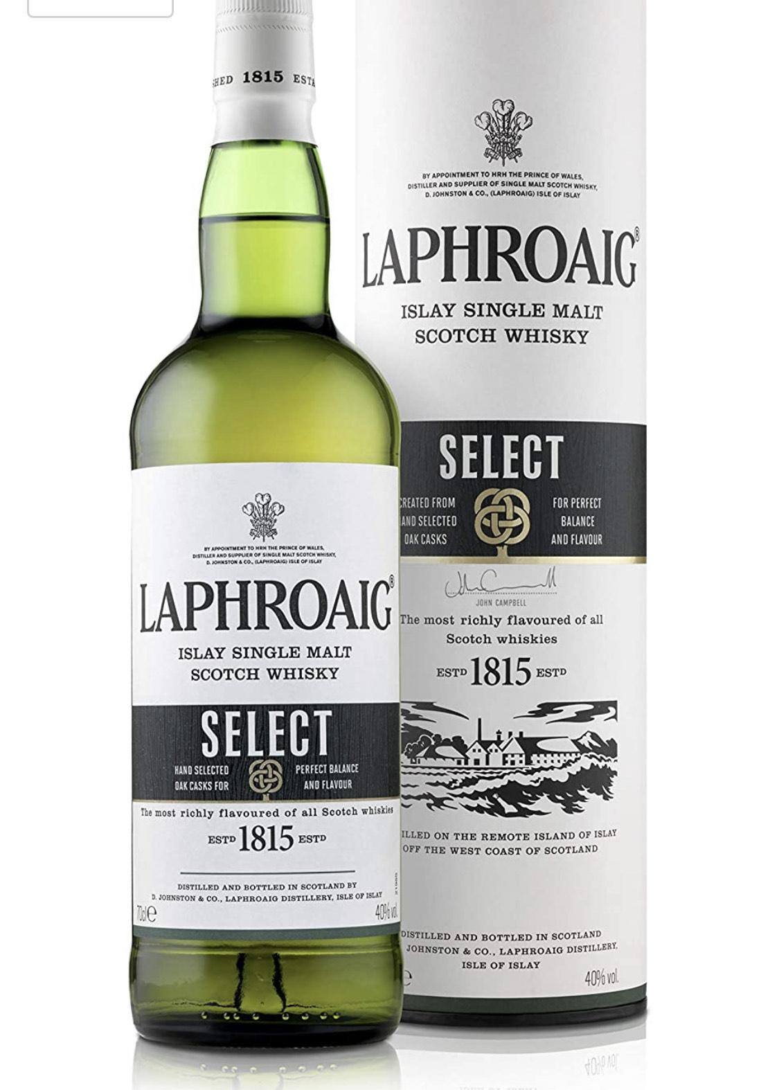 Laphroaig Select Islay Single Malt Scotch Whisky, 70 cl £25 at Amazon