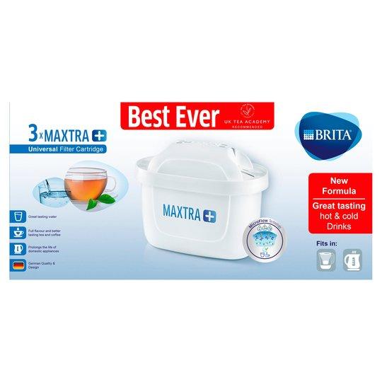 Brita Maxtra Plus x3 Filter cartridge £10.50. Brita Marella Cool Jug £10.50 at Tesco