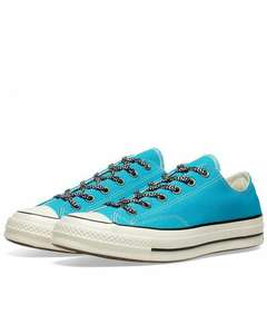 CONVERSE CHUCK TAYLOR 1970S OX VINTAGE CANVAS MOUNTAINEERINGRAPID TEAL, BLACK & EGRET £24.65 @ End Clothing