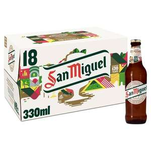 San Miguel (Abv 5%) 18 x 330ml for £9.99 @ Morrisons