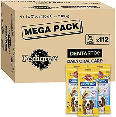 Pedigree Dentastix Medium Dog Treats (10-25 kg), 1 box (112 Sticks) - £18.99 Prime / +£4.49 non Prime / £13.25 s&s @ Amazon