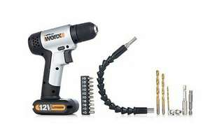 WORX WX104.2 12V Drill Driver 1.5Ah with 18pc Accessory Kit, £27.59 at Worx/ebay with code