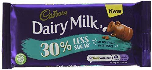 Cadbury Dairy Milk 30% Less Sugar 85g candy bar - £1 Prime / £5.49 Non-Prime @ Amazon