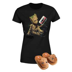 Guardians of The Galaxy and Captain America Slippers and T-Shirt Bundles £12.99 Each Delivered with code at Zavvi