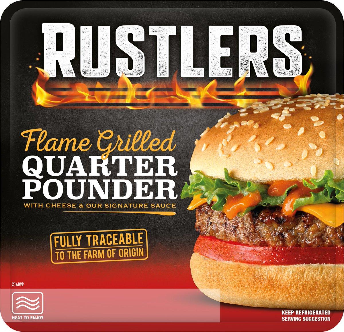192G Rustlers Quarter Pounder, 59p at Farmfoods (Preston)
