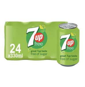 7Up Free 330Ml 24 Pack - £6 @ Tesco