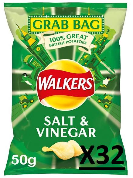 Walkers Salt & Vinegar Qty 32 x 50 Gram Bags - £5 @ Iceland (Food Warehouse) Wolverhampton