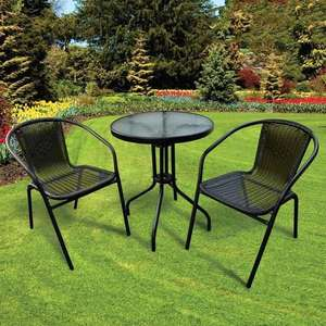 3 Piece Rattan Bistro Set £49.98 delivered @ TJ Hughes
