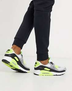 Nike Air Max 90 Recraft trainers in white/volt - £78.16 with code @ ASOS