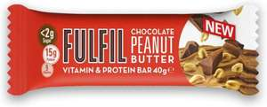 Fulfil Chocolate Peanut Butter Vitamin And Protein Bar 40 g 12p (2 max) @ Approved Food (£22.50 minimum spend, delivery from £3)
