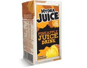 6 x 200ml Cartons Hydra Pineapple Juice 75% Juice Drink. (1.2L) £1 Heron Foods