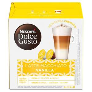 Dolce Gusto Coffee Pods (16/12 pod boxes) - Most Varieties £3 (Online & In-Store) @ Tesco