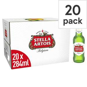 Stella Artois Lager 20 Pack 284ml Bottles - £10.00 - Tesco