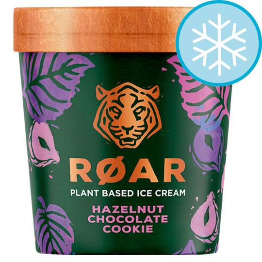 Roar Hazelnut Chocolate Cookie / Coconut Mango Passion Fruit Oat Cookie / Hemp Seed Chocolate Brownie Vegan Ice Creams 500Ml £3.50 @ Tesco