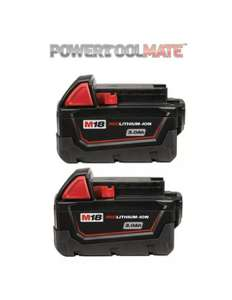 Milwaukee M18Bx M18 3.0Ah Red Lithium-Ion Battery Twin Pack £58.79 @ PowerToolMate