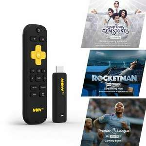 NOW TV Smart Stick with 1 month Entertainment, 1 month Sky Cinema & 1 day Sky Sports Passes pre-loaded - £19.49 Delivered @ boss_deals/eBay
