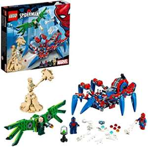 Lego 76114, Marvel Super Heroes Spider-Man's Spider Crawler with Moving Legs, Battle Vehicle £20 @ Amazon