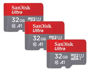 3 X 32GB SanDisk Ultra Micro SDHC Memory Card 98MB/s Class 10 A1 32GB- £14.49 // 3 X 64GB 100MB/s - £21.69 Delivered @ Picstop