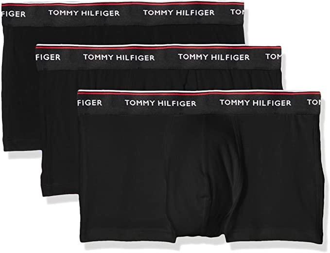 Tommy Hilfiger Men's Low Rise 3 Pack Premium ESS Black Boxer Shorts - £19 (+£4.49 Non-Prime) @ Amazon