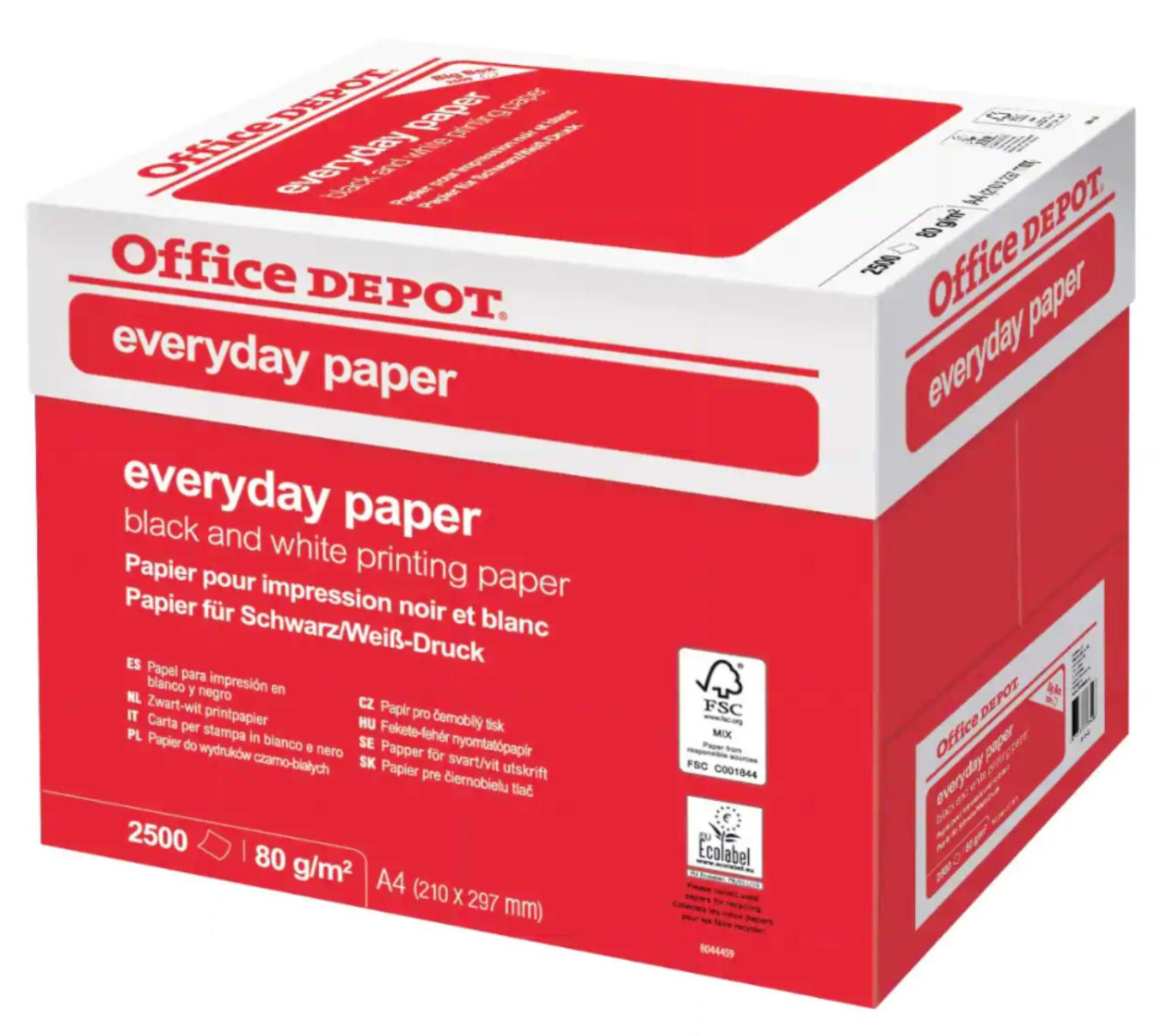 Office Depot Copy Papers A4 80gsm White 2500 Sheets - £14.99 - Delivered @ Vikinguk/eBay