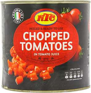 KTC Tomatoes Chopped 2.55 Kg (Pack of 6) £12.24 at Amazon (£11.63 with S&S / + £4.49 NP) / Plum Tomatoes £15.78 (Link in description)