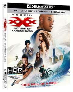 XXX: return of Xander cage. 4K Blu-Ray £3.49 + £1.26 - Dispatched from and sold by Bee-Entertained on Amazon