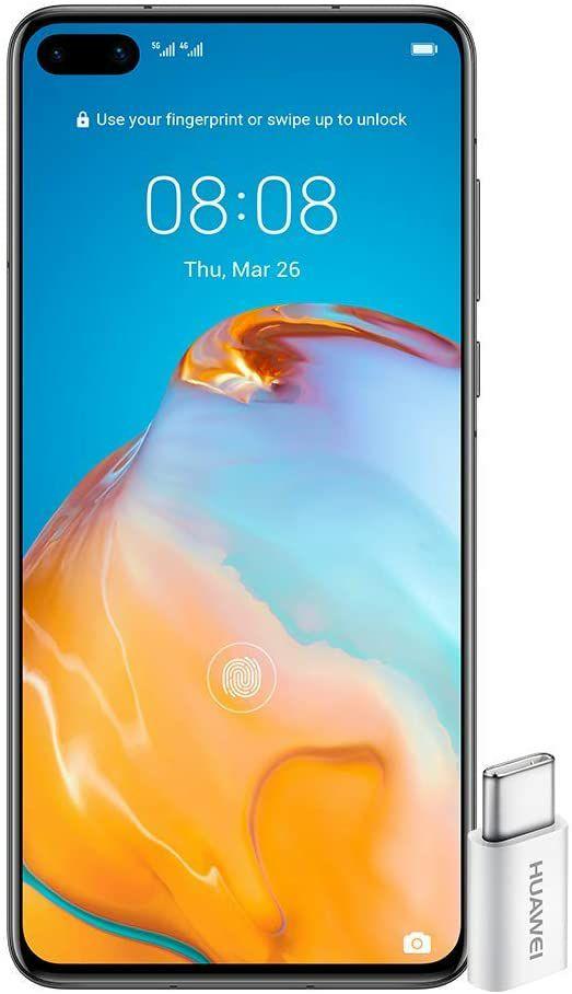 Huawei P40 Unlocked Smartphone 5G Dual Nano SIM 128GB - £560.55 / £537 Fee Free Price @ Amazon France