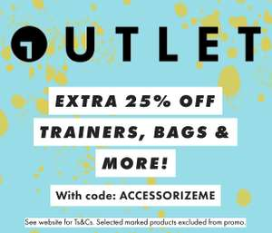 ASOS Outlet - Extra 25% off on Footwear & Accessories on top of up to 70% off (Selected Items)