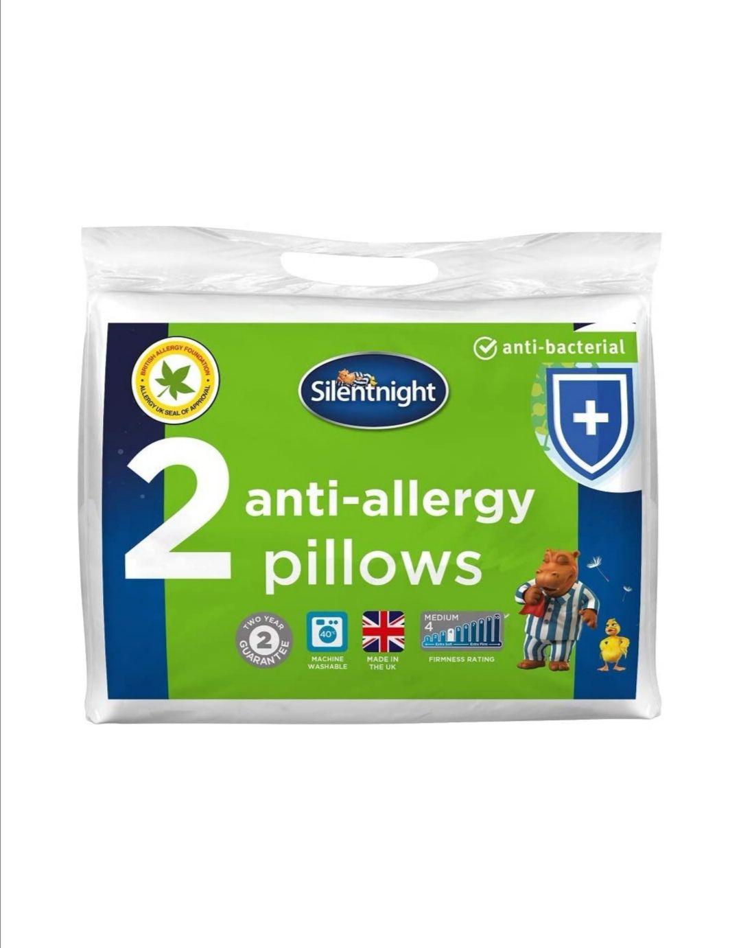 Silentnight Anti-Allergy Pillow - White, Pack of 2, Anti-Bacterial £12 Amazon Prime / £16.49 Non Prime