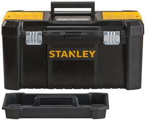 "Stanley STST1-75521 Essential 19"" Toolbox with Metal latches, Black/Yellow - £10 (Prime) / £14.49 (Non Prime) @ Amazon"