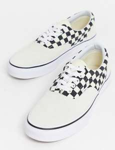 Vans Era Skate Shoes Primary Check Marshmallow Black £19.50 + £3.50 del with code Sizes 10.5 and 11 free delivery over £35 at ASOS