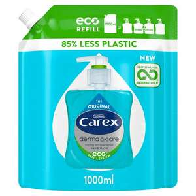 Carex (Original   Dermacare Moisture Eco) Antibacterial Handwash Refill Pack 1L £2.85 @ Sainsbury's