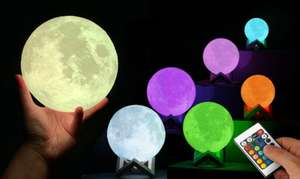 GloBrite Colour-Changing LED Moon Lamp with Remote Control £10 + £1.99 Delivery at Groupon