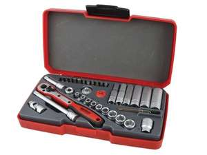 Teng T1436 Socket Set, 36 Metric 1/4in Drive at UK Tool Centre for £38.73 delivered