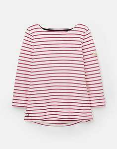 Joules 209041 3/4 Length Sleeve 100% Cotton Jersey Striped Top - Cream Pink Stripe £8.96 Delivered @ Joules on eBay other colours available.