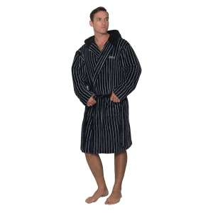 Lazenby Pinstripe Flannel Fleece Mens Dressing Gown £13.95 delivered at bedroomathletics