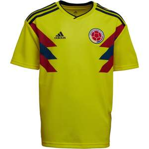 adidas Junior Boys FCF Colombia Home Shirt Bright Yellow/Collegiate Navy £3.49 + £4.99 del at MandM Direct