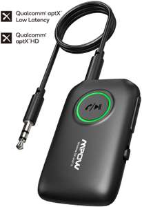 Mpow Bluetooth 5.0 Transmitter Receiver for TV/Car Sound System £19.54 Prime / £24.03 NP Sold by HBH LTD and Fulfilled by Amazon