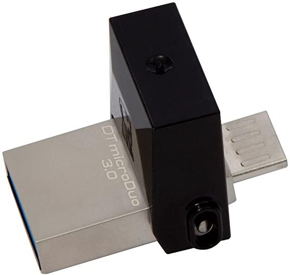 Kingston Technology 64 GB micro Duo (64 GB, USB 3.0/micro-USB Flash Drive - Black £12.48 @ Amazon Prime / £16.97 Non Prime