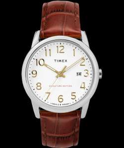 Timex Easy Reader Signature 38mm Leather Strap Watch £32.49 at Timex Shop