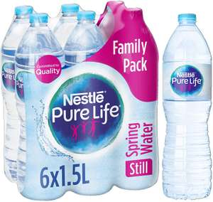 Nestlé Pure Life Still Spring Water, 6 x 1.5 Litre only £1 at Amazon Pantry (4 for free delivery - £15 spend needed)